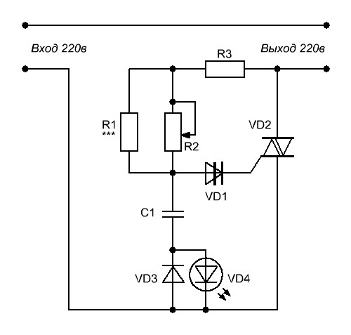 R1 - резистор задающий нижний